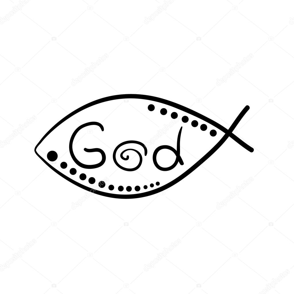 Christian Fish Symbol Stock Vector Arybickii 105181940