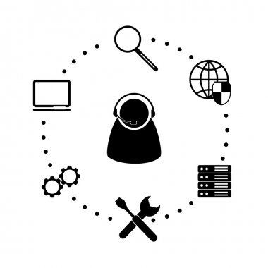 Flat icon system administrator