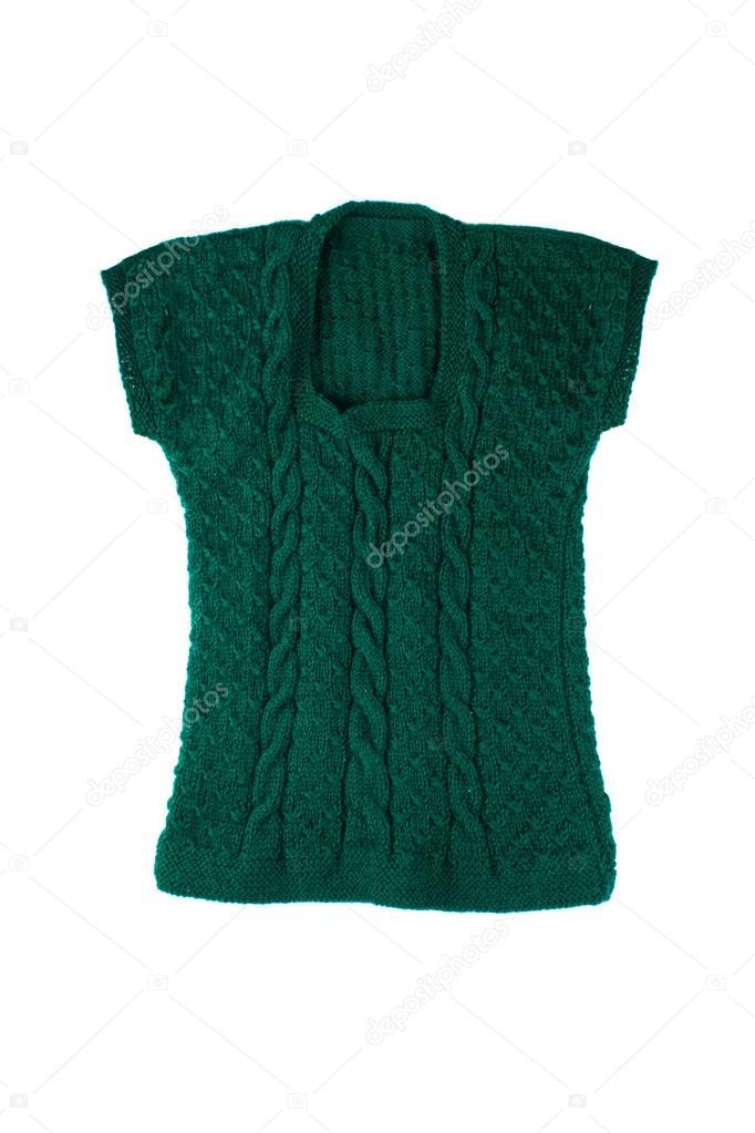 Grüne gestrickte Weste — Stockfoto © Arybickii #116975032