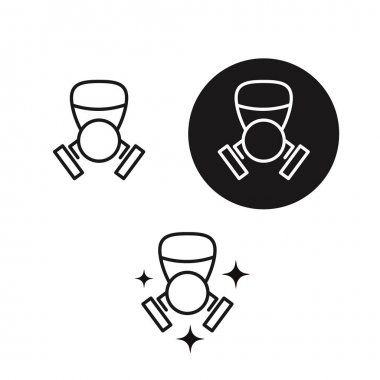Safe Life. Gas Dirty Air Mask. Thin Line Icon icon