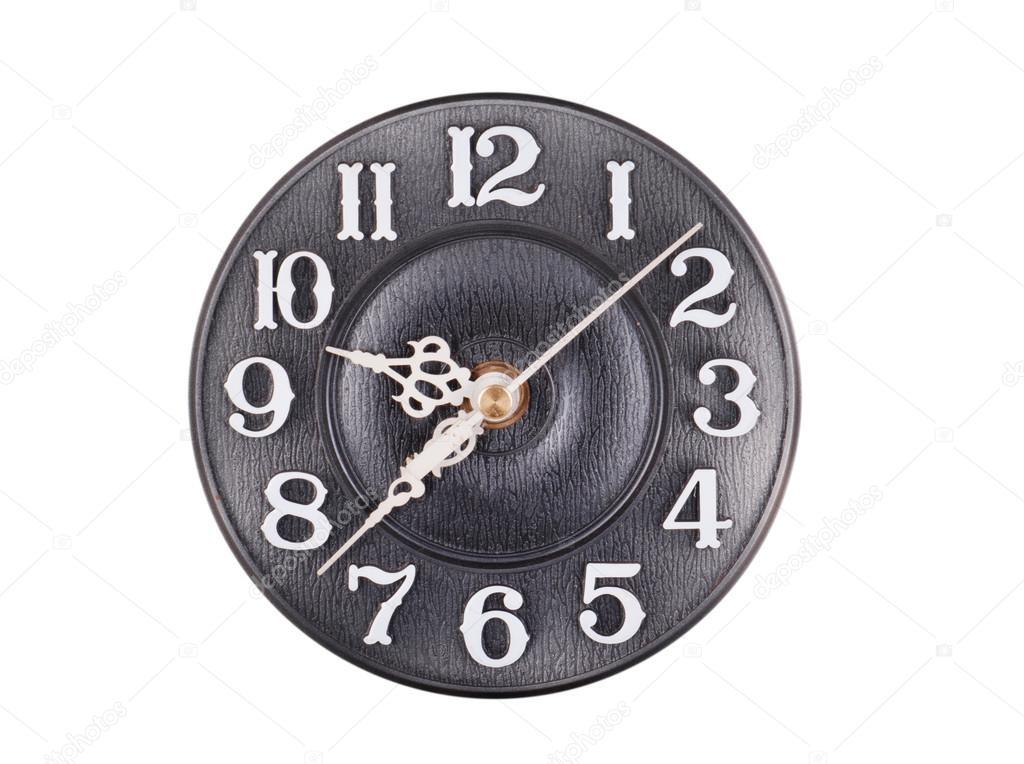 531f5485e31 Relógio de parede antigo velho isolado no branco — Fotografia por Arybickii