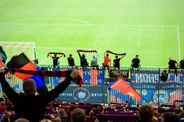 Fans in the stadium