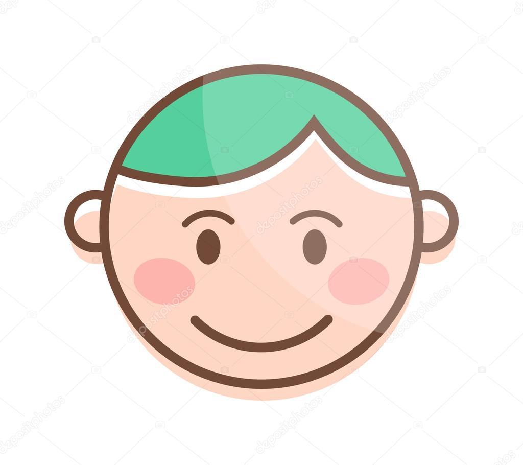 Dibujos Animados Feliz Risa A Muchacho Y Riendo El Carácter Del Niño