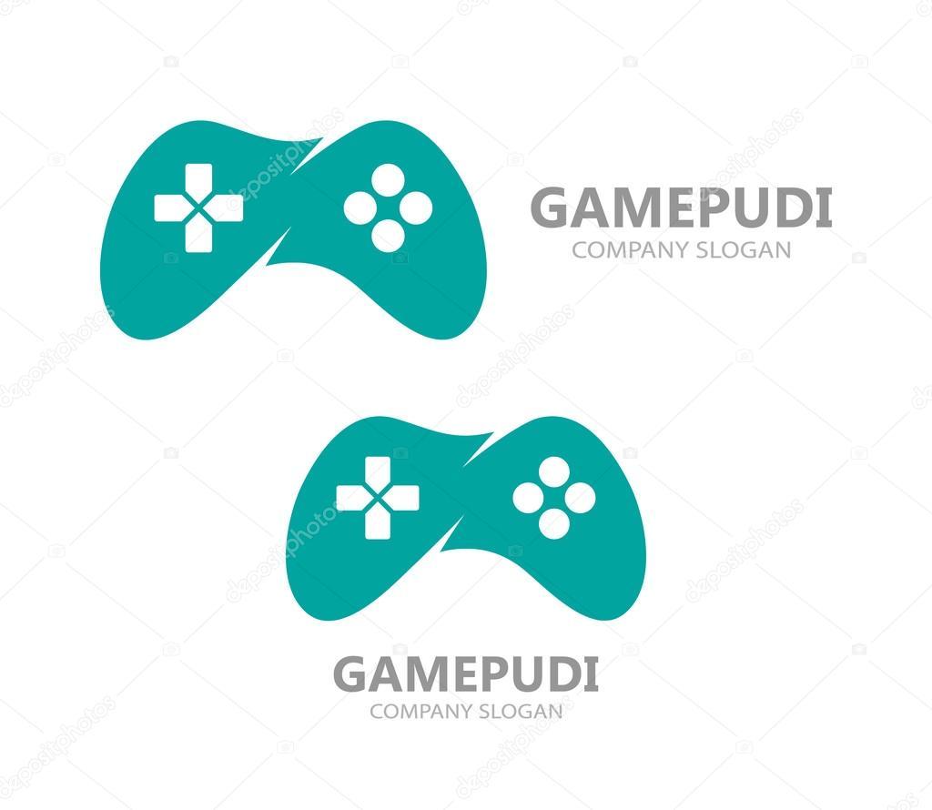 game controller logo template joystick icon stock vector