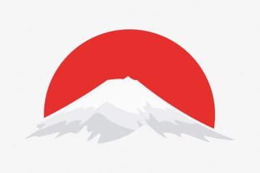Vector logo design element. Mountain, japan nature