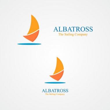 Set of abstract  sailboat logo
