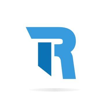 Logo R letter for company vector design template.