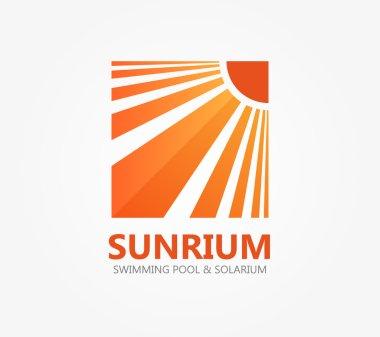 Vector logo symbol for travel or solarium