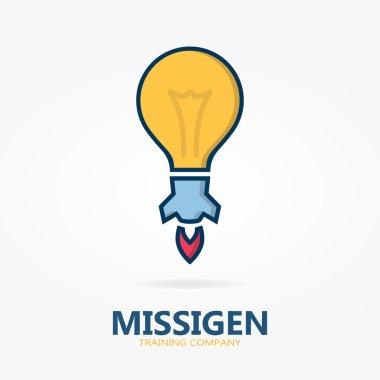 Bulb logo with idea concept
