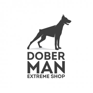 Doberman vector logo