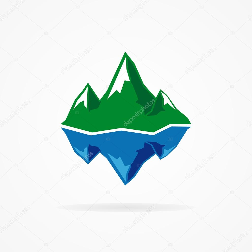 Vector logo of the mountain and iceberg