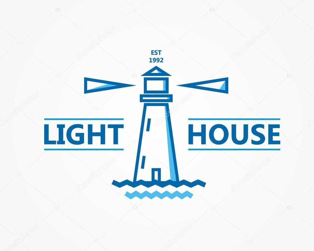 Lighthouse vector logo or symbol icon — Stock Vector © lifeking83 ...