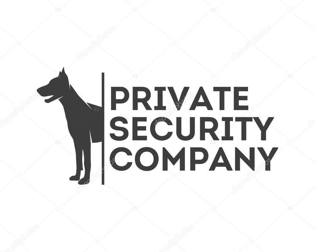 Logo Vectoriel Pour La Societe De Securite Privee Illustration Stock