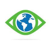 Fényképek Vektoros világ szem logó