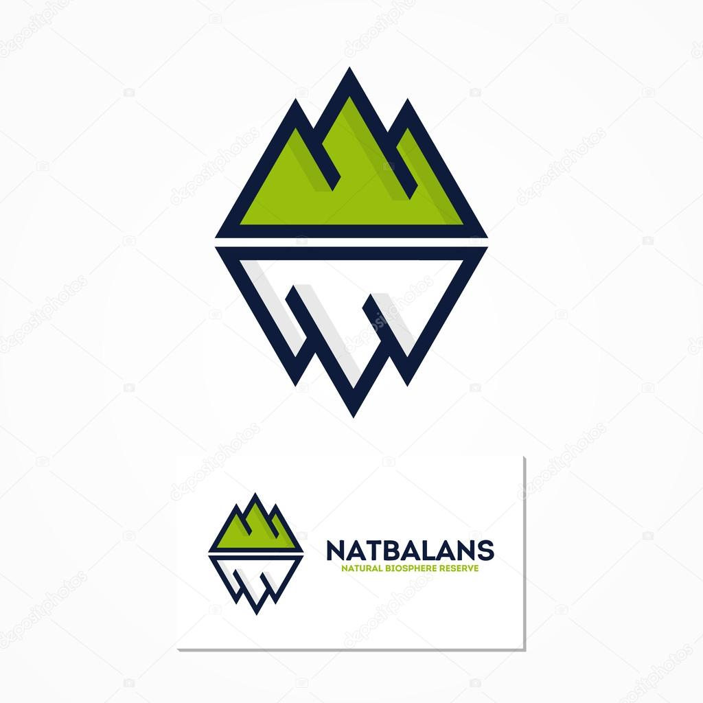 Vector logo combination of a mountain and iceberg