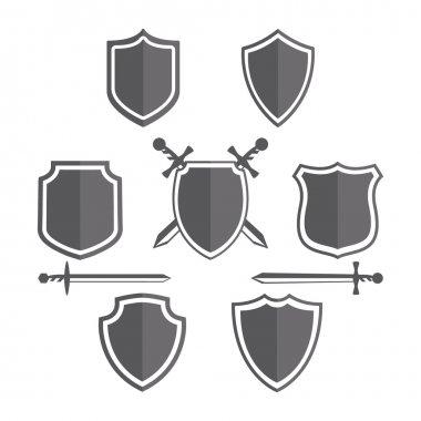 Simple shields badges design. Retro design.