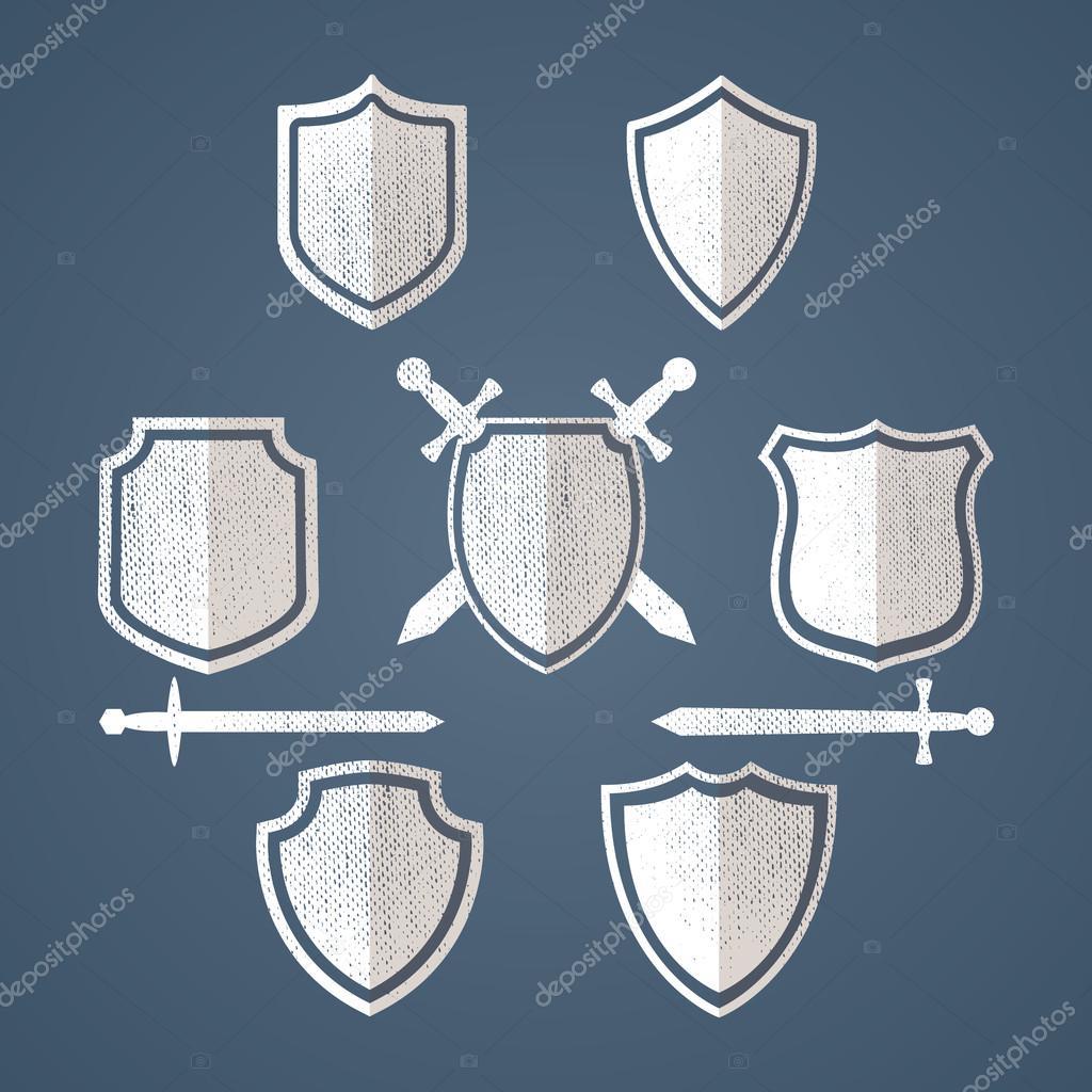 Diseño de escudos simples tarjetas. Sólo tiene que colocar su propia ...