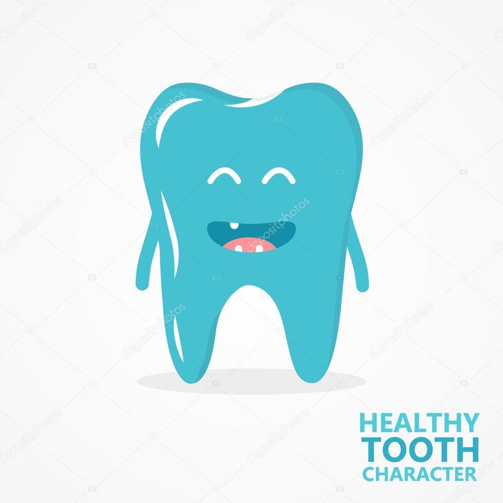 Vector cartoon tooth character