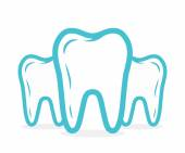 Fotografie Vector dental or tooth logo. Tooth vector icon