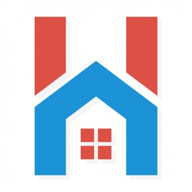 Logo combination of H letter and house
