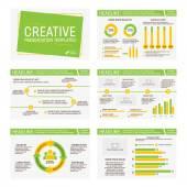 Vektor sablon többcélú bemutató diák, grafikonok és diagramok. Infographic elem és szimbólum ikon sablon. PowerPoint-sablonok és témák