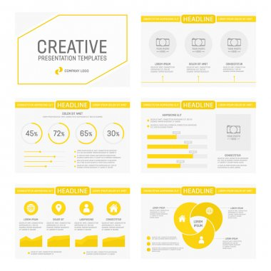 Vector template for multipurpose presentation slides with graphs and charts. Infographic element and symbol icon template. Powerpoint templates and themes.