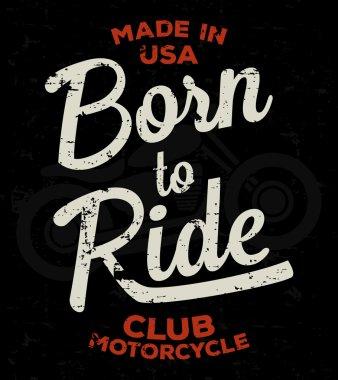 Motorbike race, racer, motorcycle typography. Vintage tee print design. T-shirt graphics.