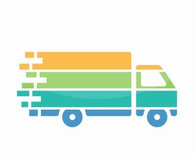 Truck logo vector design. Fast delivery symbol or icon