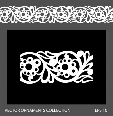 Seamless ornament border pattern. Vector ornament collection stock vector