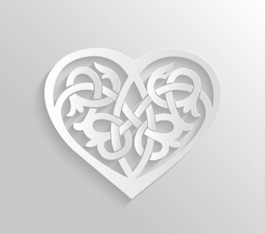 Heart ornament illustration.