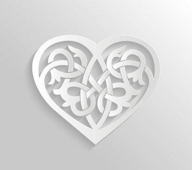Heart ornament illustration.