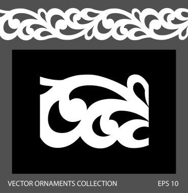 Seamless ornament border pattern.