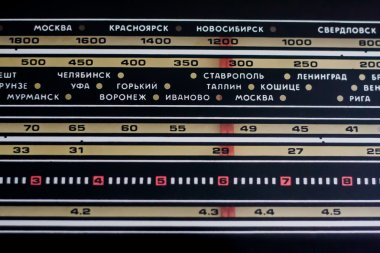 Radio range frequency channels.