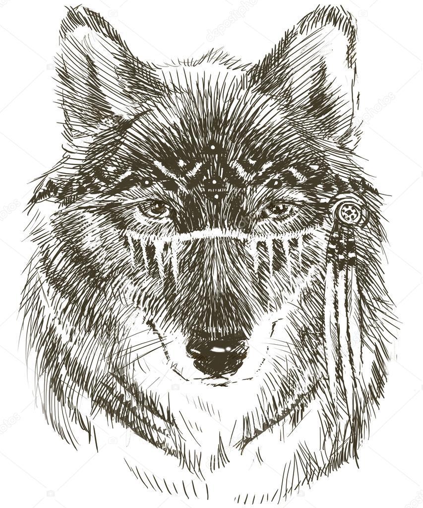 Imágenes Indios Americanos Con Lobos Lobo Guerrero Indio Lobo