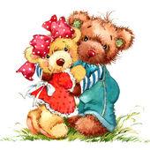 Valentine day. Teddy bear.background for congratulation festive