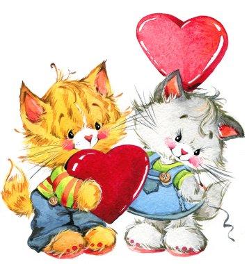 Valentine day. fanny animals