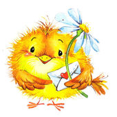 Fényképek Valentin-nap. madár és szív. akvarell illusztráció