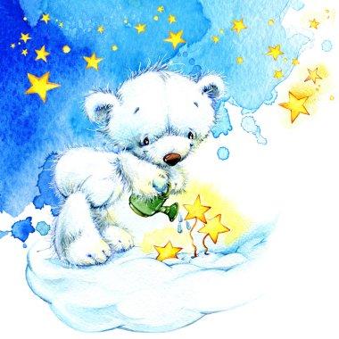 Teddy bear and stars
