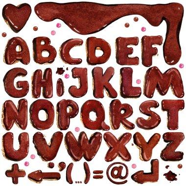 Alphabet watercolor