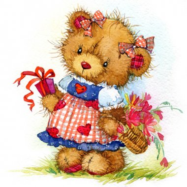 teddy bear for kid birthday background