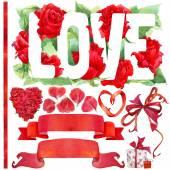 Valentine den pozadí a prvky pro dekorace