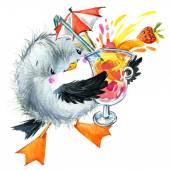 Sea Bird Möwe. lustige Hintergrund für Kinder