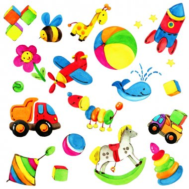 Toy background for children.