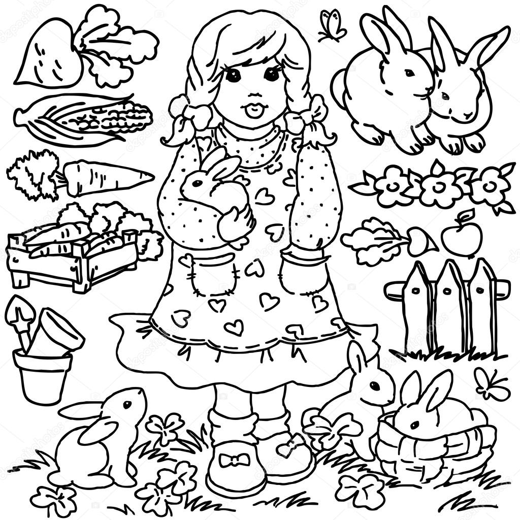 Coloring Pages With Fruits And Vegetables Pinterest