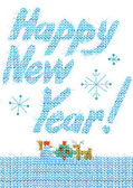 Boldog új évet szöveg. kézzel rajzolt szöveg. akvarell újév háttér. Boldog új évet kíván