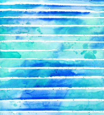 Marine watercolor background. Sea watercolor texture. Watercolor blue abstract background
