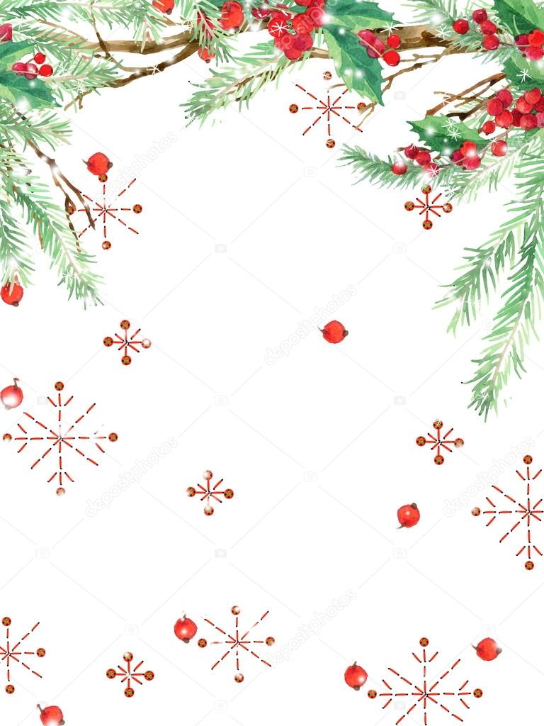 watercolor winter holidays background. watercolor illustration ...