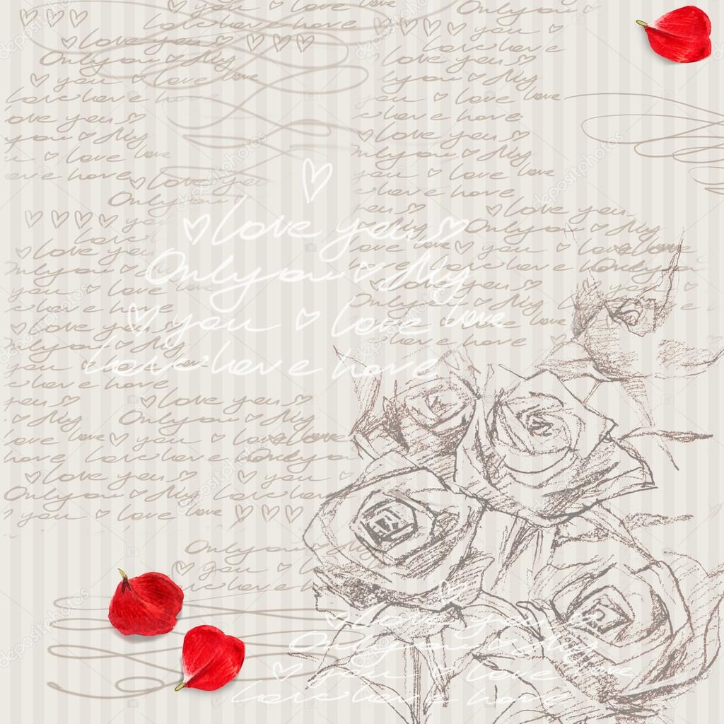 Watercolor Rose Flower Rose Background Love Flower Romantic