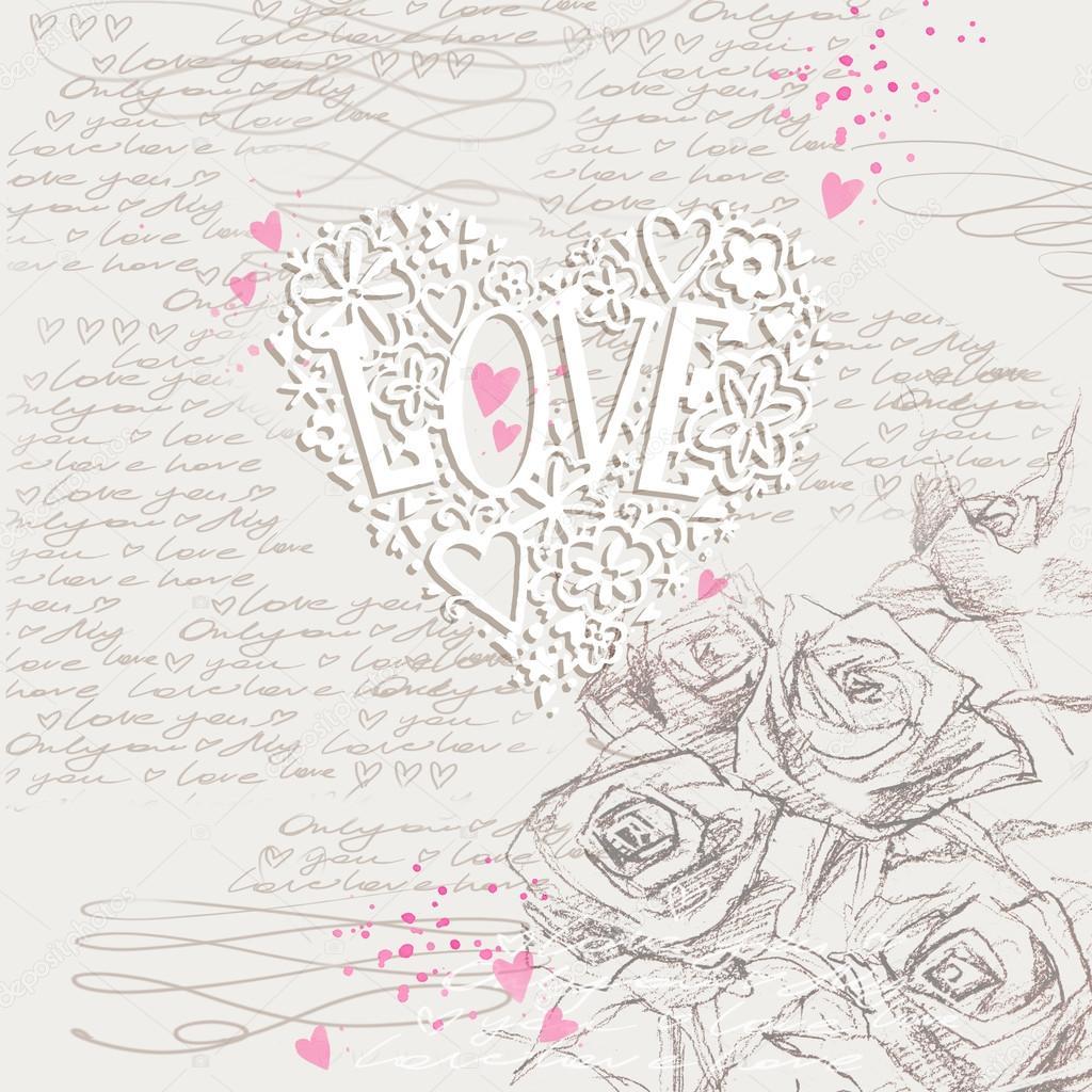 Watercolor Rose Flower Rose Background Love Flower Romantic