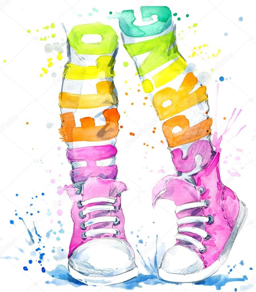 De Adolescente Zapatillas En FondoDeportes AcuarelaChica Aj4Lqc35R